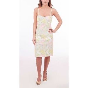 Alice and Olivia Washed Floral Bustier Dress